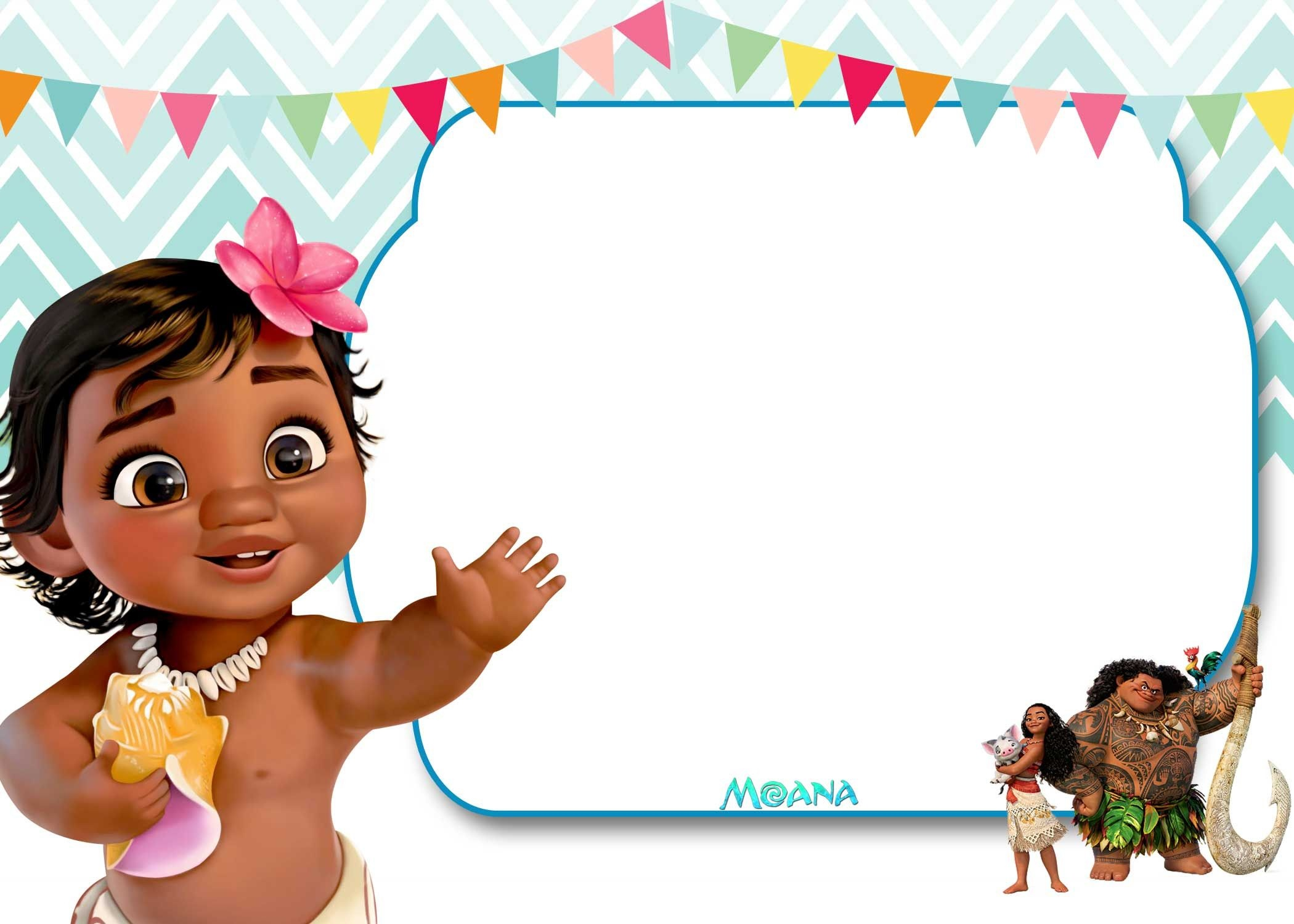 Free Free Printable Moana 1St Invitation Template | Bagvania - Free Printable Moana Invitations
