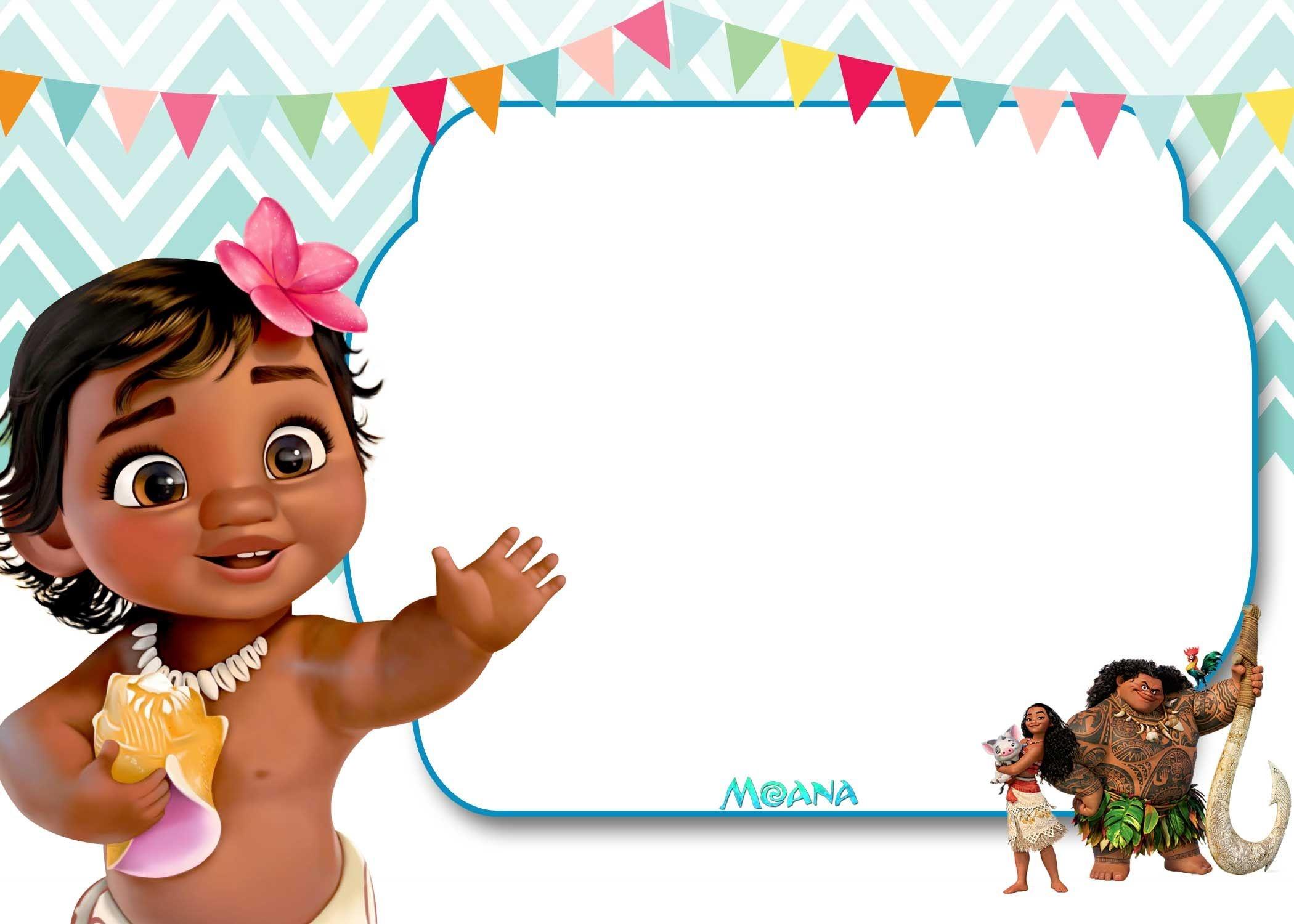 Free Free Printable Moana 1St Invitation Template | Bagvania - Free Printable Moana Invitations
