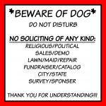 Free Front Door Sign Printable Beware Of Dog No Soliciting Etc   Free Printable No Soliciting Sign