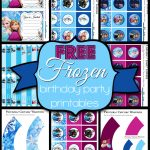 Free Frozen Birthday Party Printables   Frozen Happy Birthday Banner Free Printable