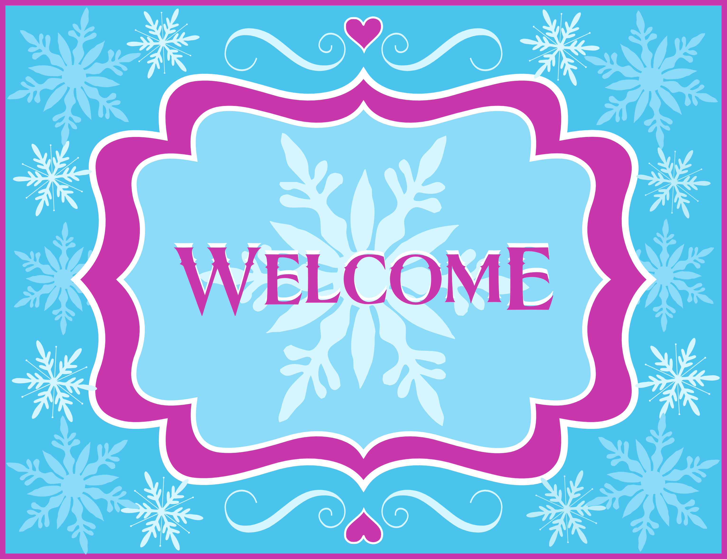 Free Frozen Party Printables From Printabelle | Catch My Party - Free Printable Welcome Cards