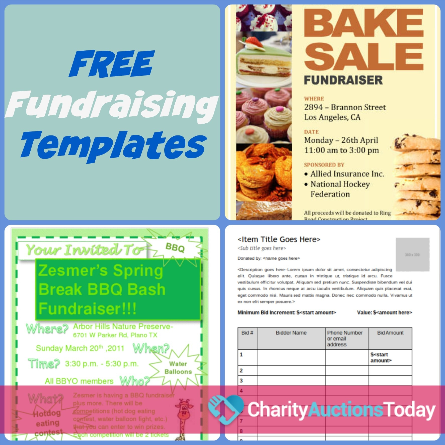 Free Fundraiser Flyer | Charity Auctions Today - Free Printable Flyers