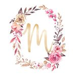 Free Glitter And Glam Monogram Printables | Kidsworld | Alphabet   Free Printable Flower Letters