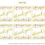Free Gold And Polka Dot Birthday Printables | Catch My Party   Birthday Party Favor Tags Printable Free