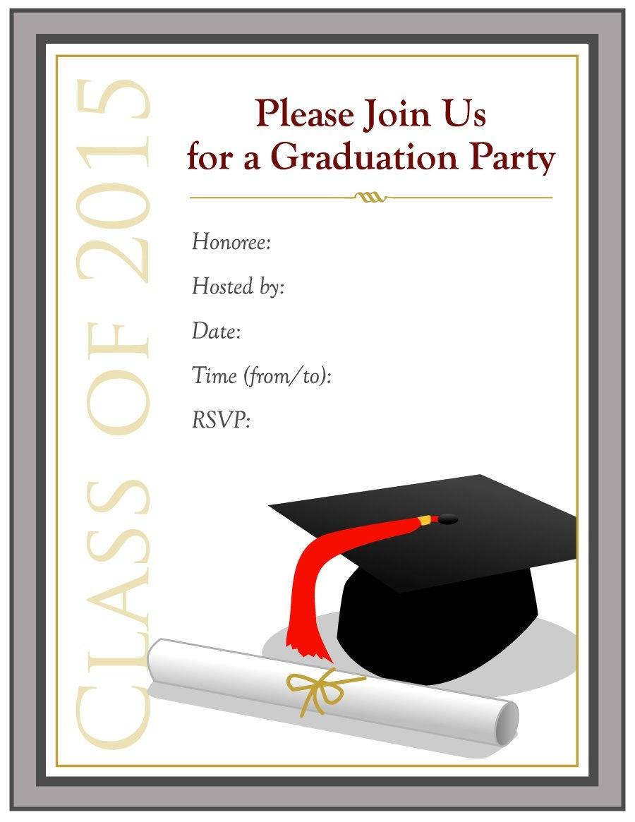 Free Graduation Announcement Template - Kaza.psstech.co - Free Printable Graduation Party Invitations 2014