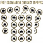 Free Graduation Cupcake Toppers | It's A Mother Thing   Free Printable Graduation Cupcake Toppers
