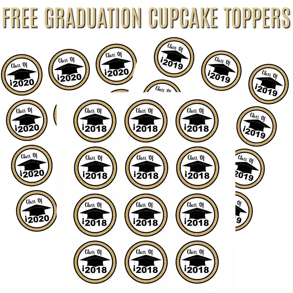 Free Graduation Cupcake Toppers | It's A Mother Thing - Free Printable Graduation Cupcake Toppers