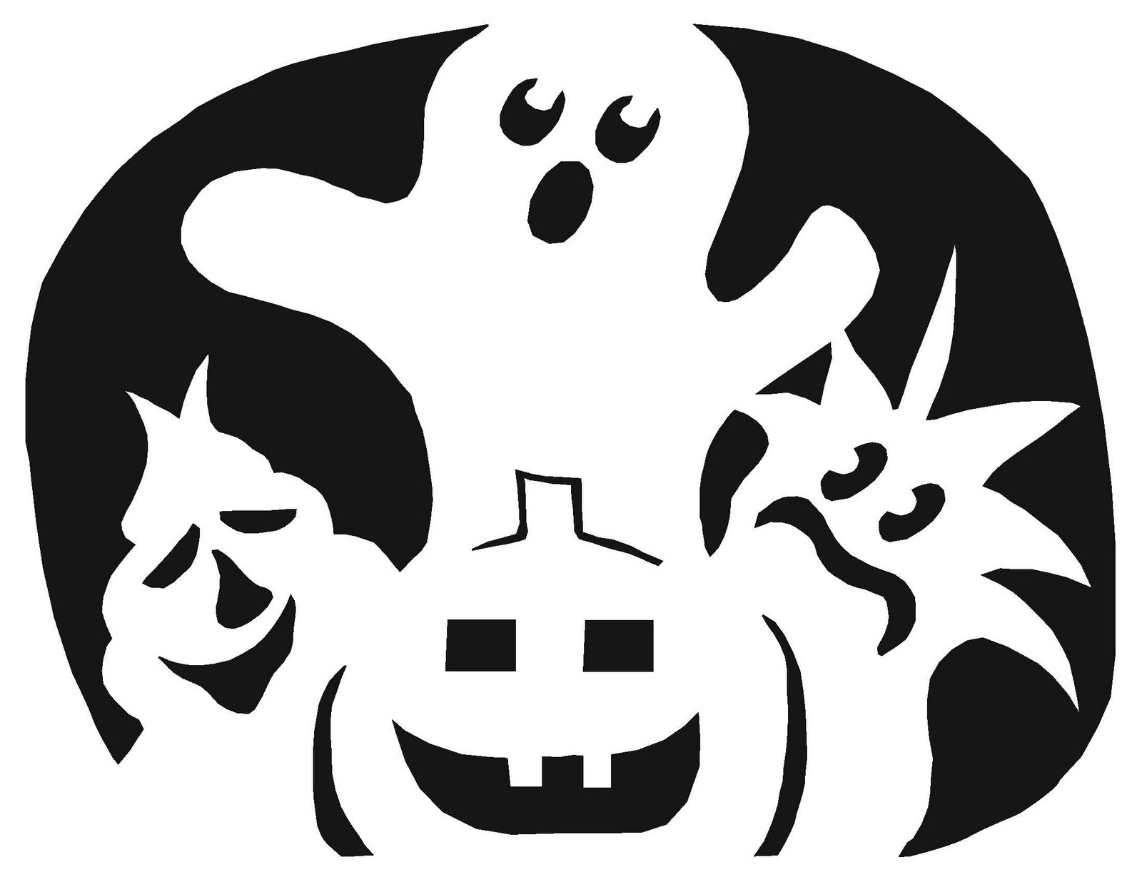 Free Guitar Pumpkin Stencil, Download Free Clip Art, Free Clip Art - Free Printable Pumpkin Stencils