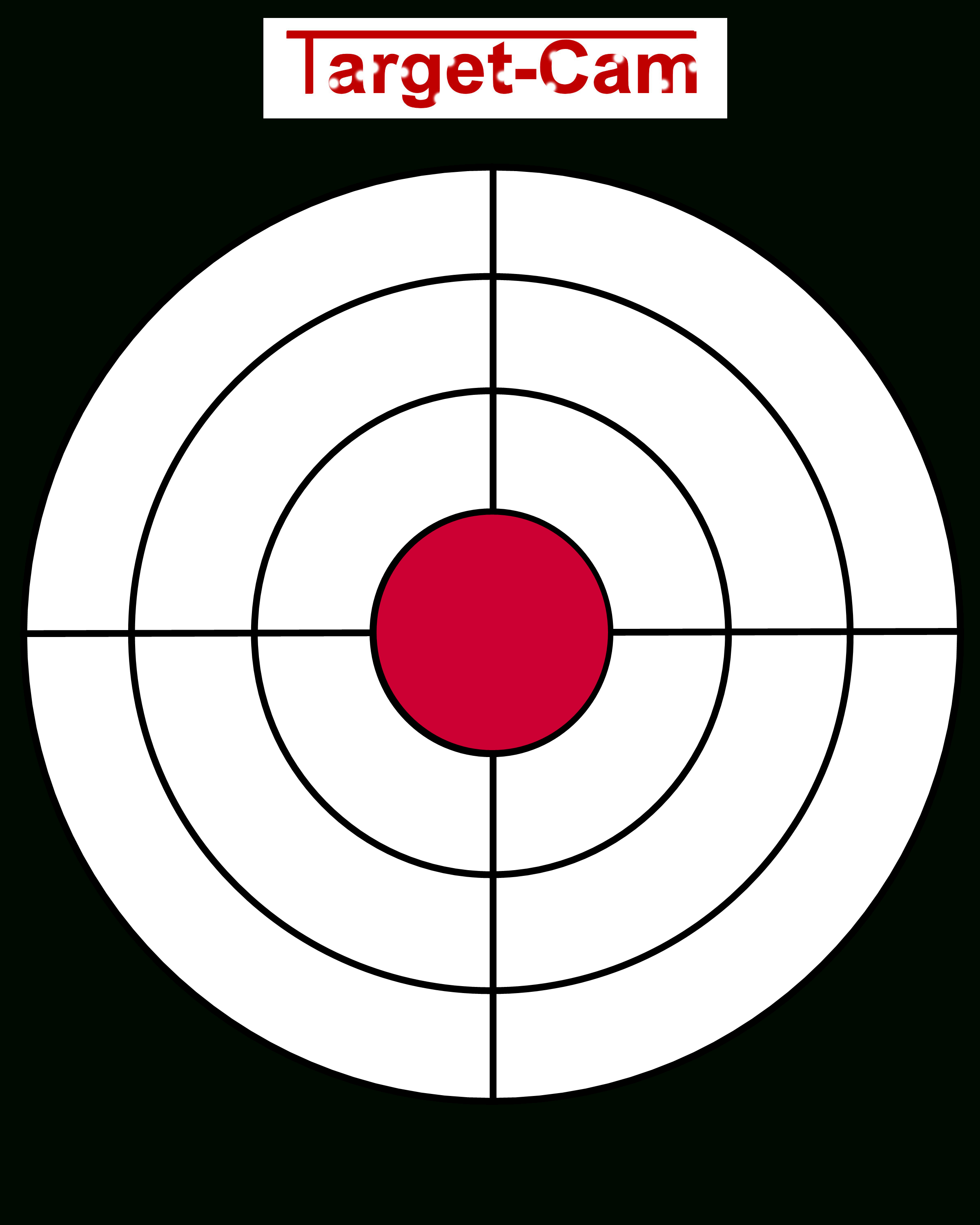 "Free Gun Targets To Print | New ""target-Cam"" Rifle And Hand Gun - Free Printable Targets For Shooting Practice"