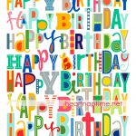 Free Happy Birthday Printable | Free Printables | Happy Birthday   Free Printable Happy Birthday Signs