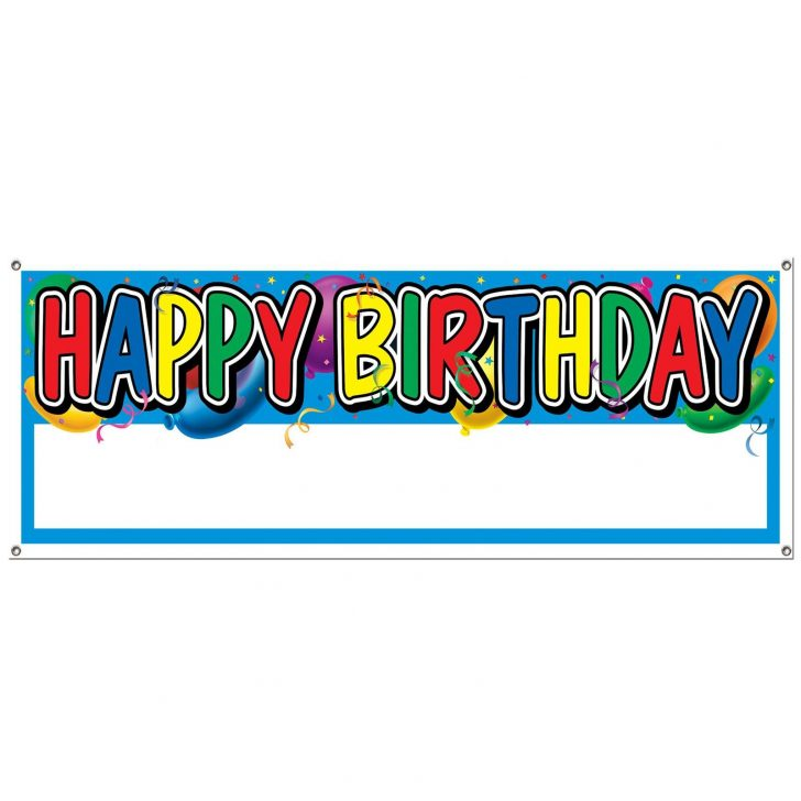 photo regarding Free Printable Banners and Signs titled cost-free printable satisfied birthday banners Totally free Printable