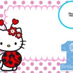 Free Hello Kitty 1St Birthday Invitation Template | Hello Kitty   Hello Kitty Birthday Card Printable Free