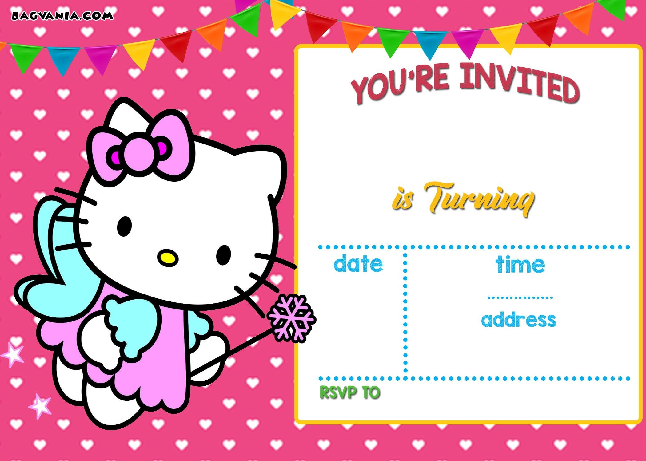 Free Hello Kitty Invitation Templates | Free Printable Birthday - Hello Kitty Birthday Card Printable Free