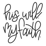 """Free """"his Will My Faith"""" Jeremiah 29:11 Hand Lettered Printable   Jeremiah 29 11 Free Printable"""