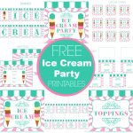 Free Ice Cream Party Printables From Printabelle Perfect For   Ice Cream Party Invitations Printable Free