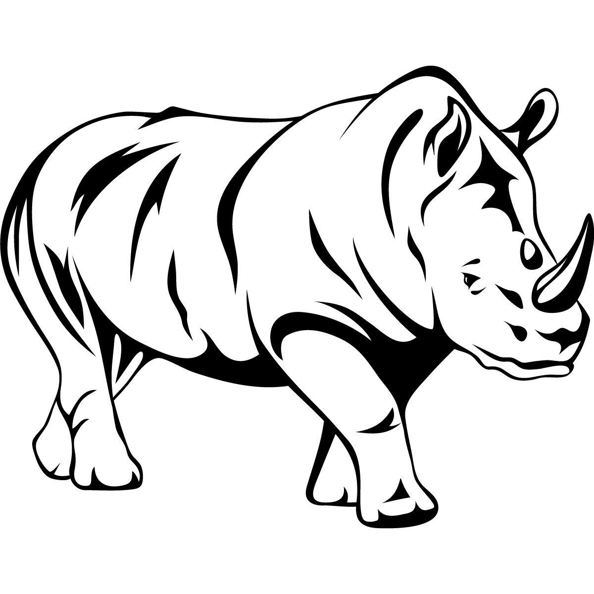 Free Images Of Wild Animals Only Outline, Download Free Clip Art - Free Printable Arty Animal Outlines