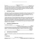"""Free Last Will And Testament Templates   A """"Will""""   Pdf 