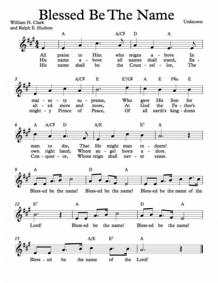 Free Printable Sheet Music Lyrics