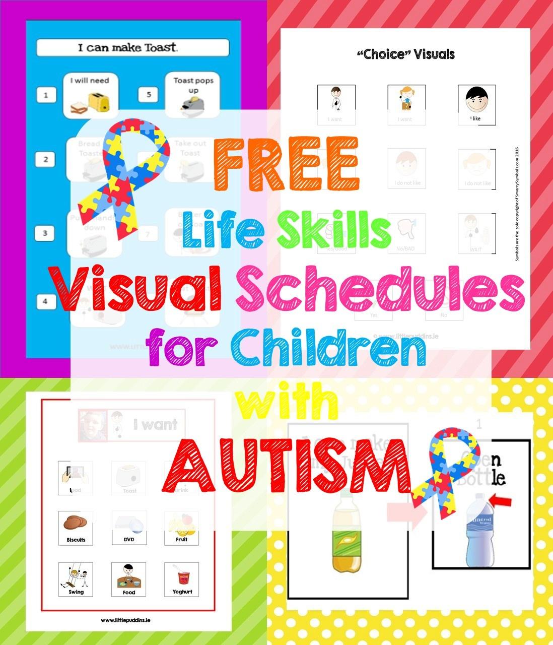 Free Life Skills Printable – Little Puddins Free Printables - Free Printable Picture Communication Symbols