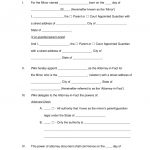 Free Minor (Child) Power Of Attorney Forms   Pdf | Word | Eforms   Free Printable Power Of Attorney Form California