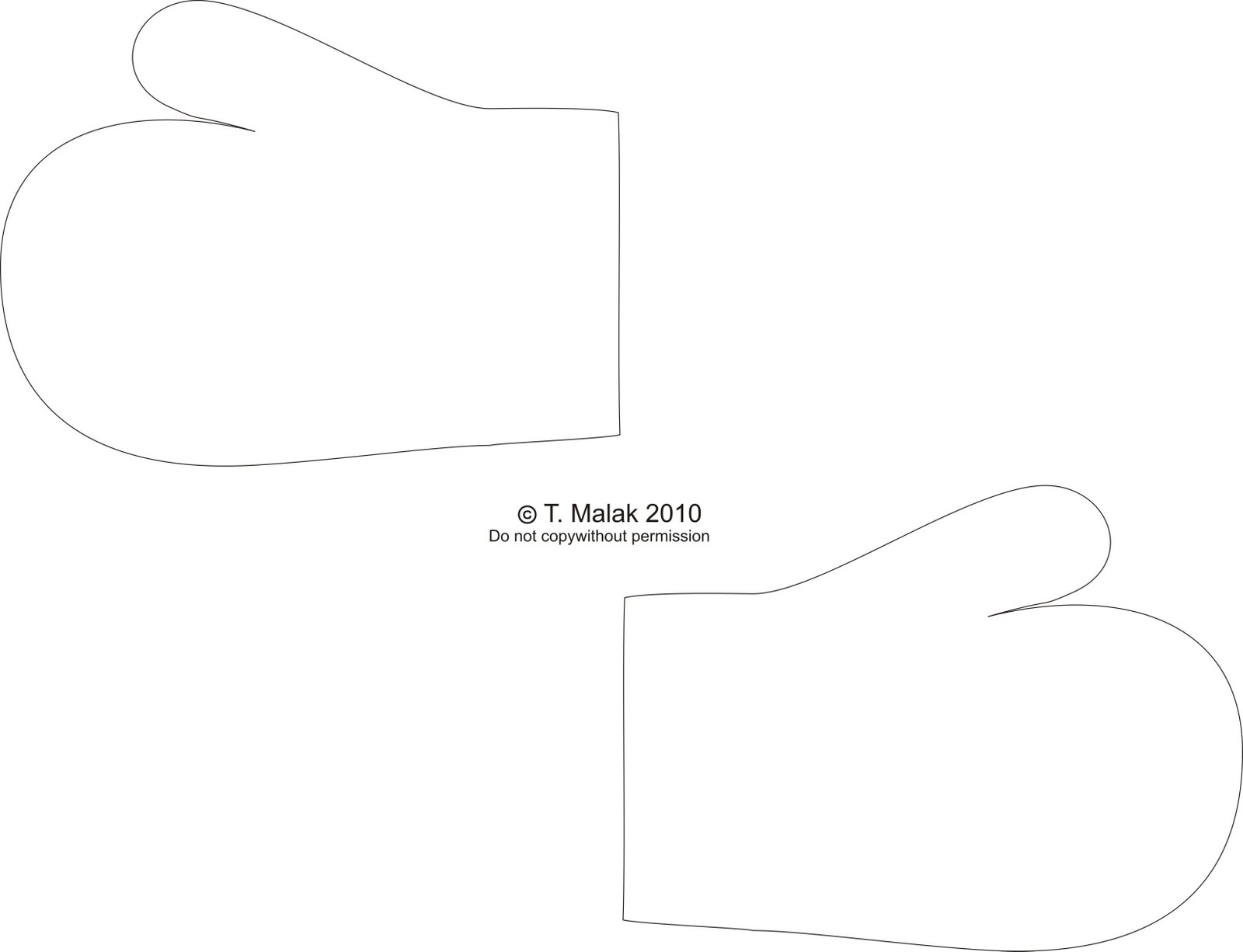 Free Mitten Outline, Download Free Clip Art, Free Clip Art On - Free Mitten Template Printable