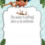 Free Moana Birthday Invitation Template | Moana / Luau Themed   Free Printable Moana Invitations