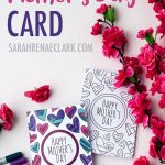 Free Mother's Day Card | Printable Template   Sarah Renae Clark   Free Printable Funny Mother's Day Cards