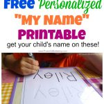Free Name Tracing Worksheet Printable + Font Choices   Free Printable Personalized Children's Books