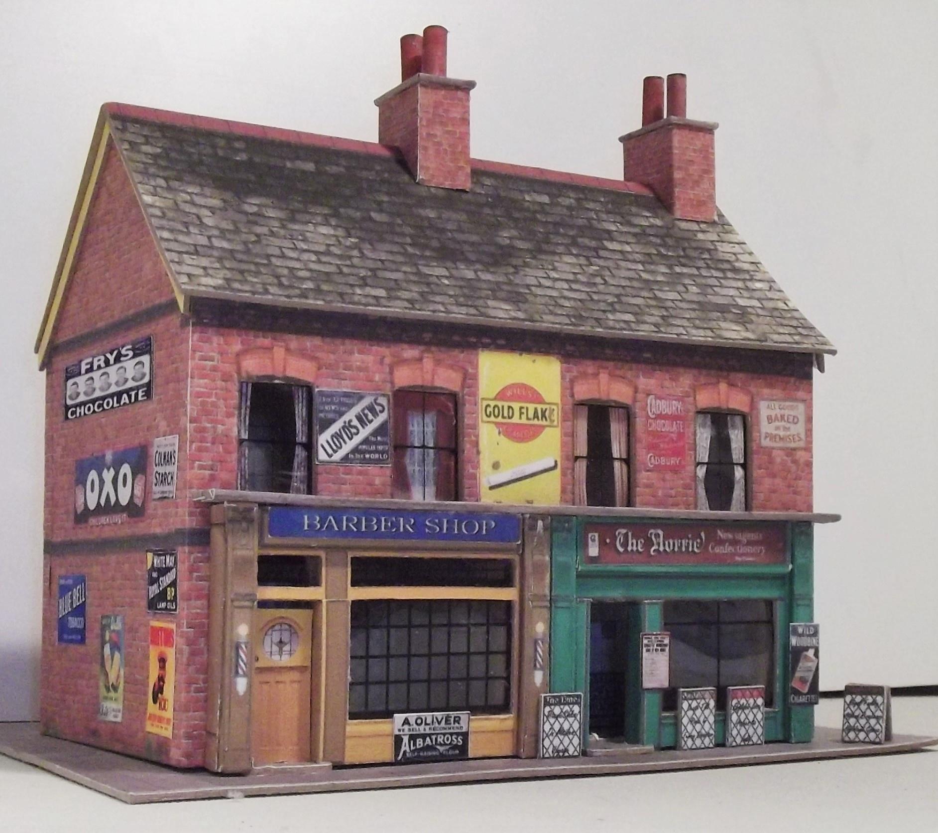 Free Oo Gauge & Ho Scale Building Kits Fergus 3Dk - Free Printable Model Railway Buildings