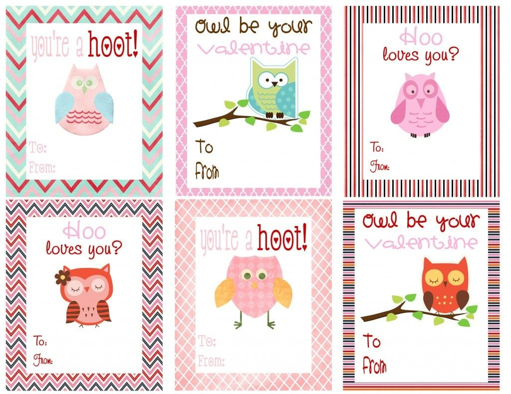 Free Owl Printables | Free Printable Valentine's Day Cards For Kids - Free Printable Childrens Valentines Day Cards