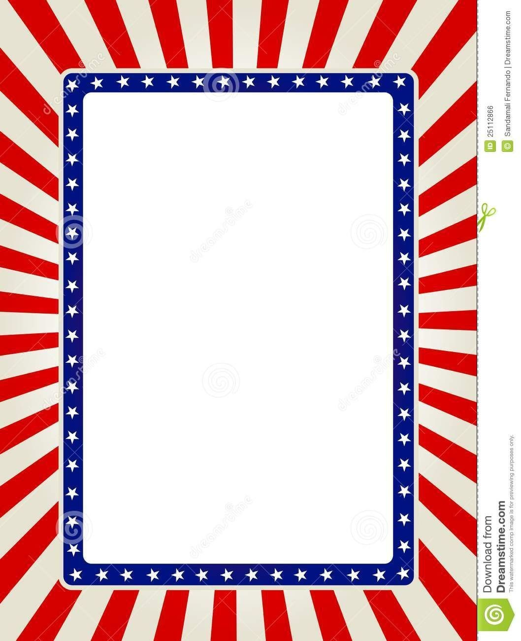 Free Patriotic Page Borders | Patriotic Border | Images | Templates - Free Printable Patriotic Writing Paper