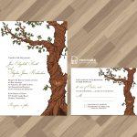 Free Pdf Rustic Wedding Invitation And Rsvp Template Fairytale Tree   Free Printable Wedding Invitation Kits
