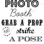 Free Photo Booth Sign (Printable) | Party Planning | Fiesta En La   Free Printable Photo Booth Sign