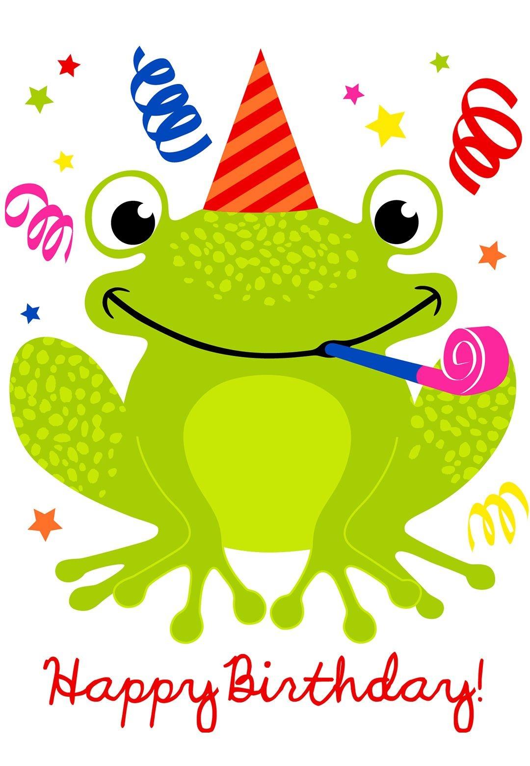 Free Printable A Happy Hopping Birthday Greeting Card #birthday - Birthday Clipart Free Printable