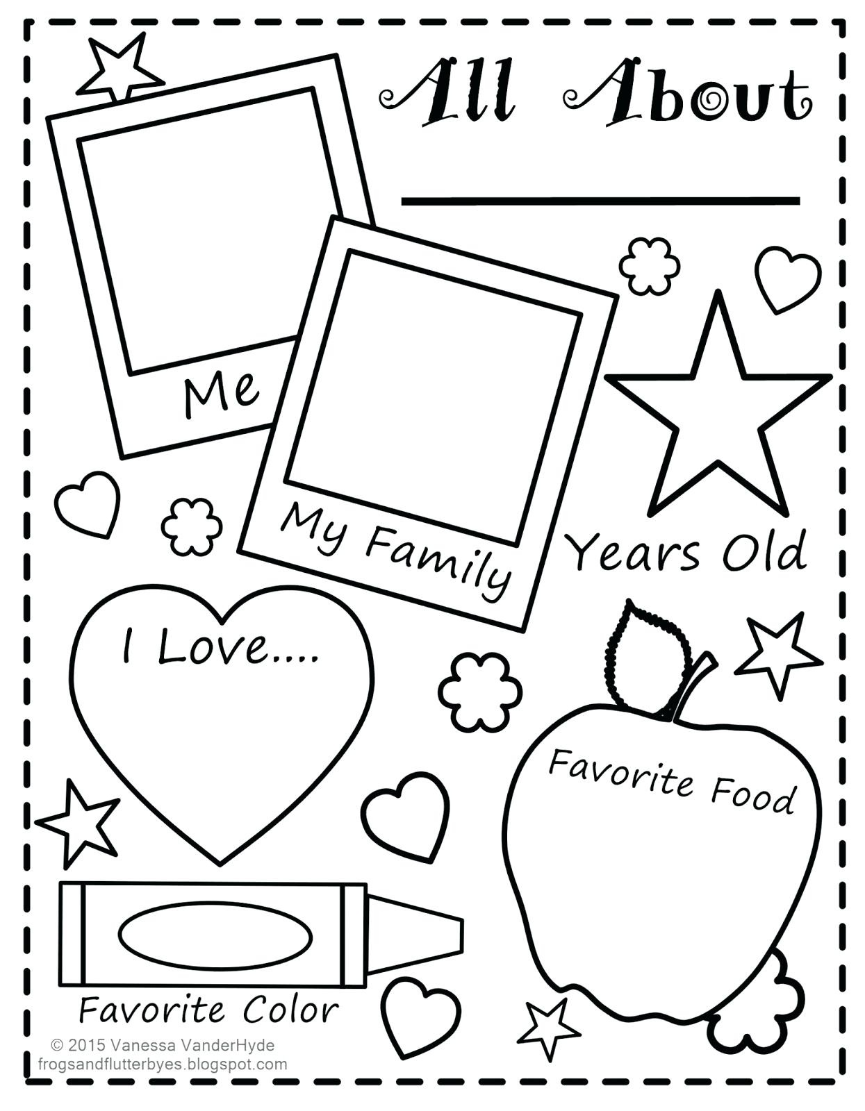 Free Printable All About Me Worksheet Back To School Worksheet All - Free Printable All About Me Worksheet