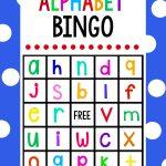 Free Printable Alphabet Bingo Game. Cute Game To Play With Younger   Free Printable Alphabet Bingo Cards