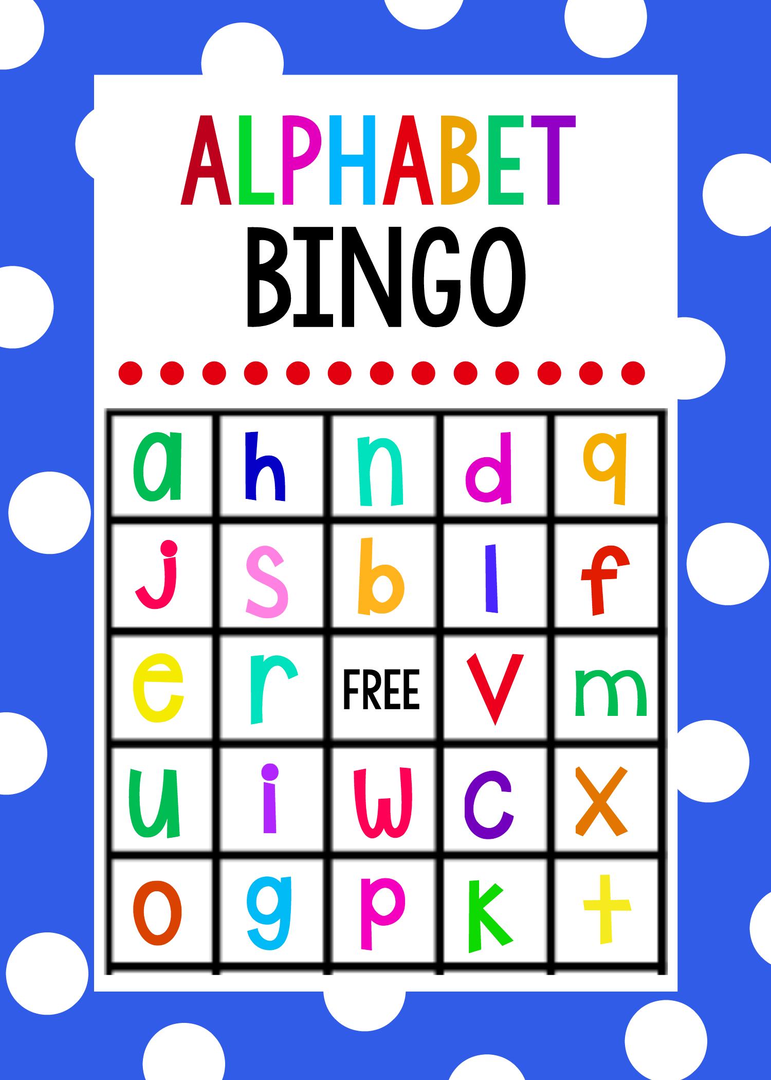 Free Printable Alphabet Bingo Game. Cute Game To Play With Younger - Free Printable Alphabet Bingo Cards