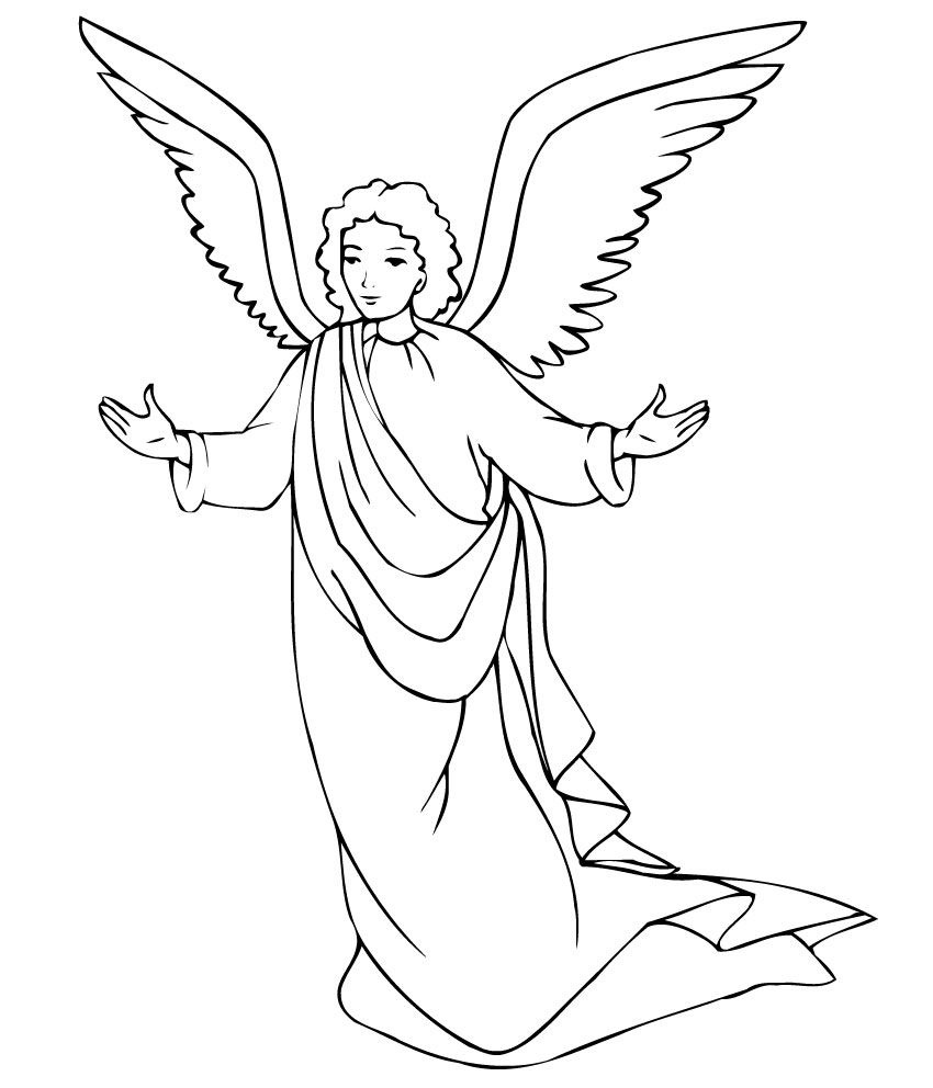Free Printable Angel Coloring Pages For Kids | Printables | Angel - Free Printable Angels