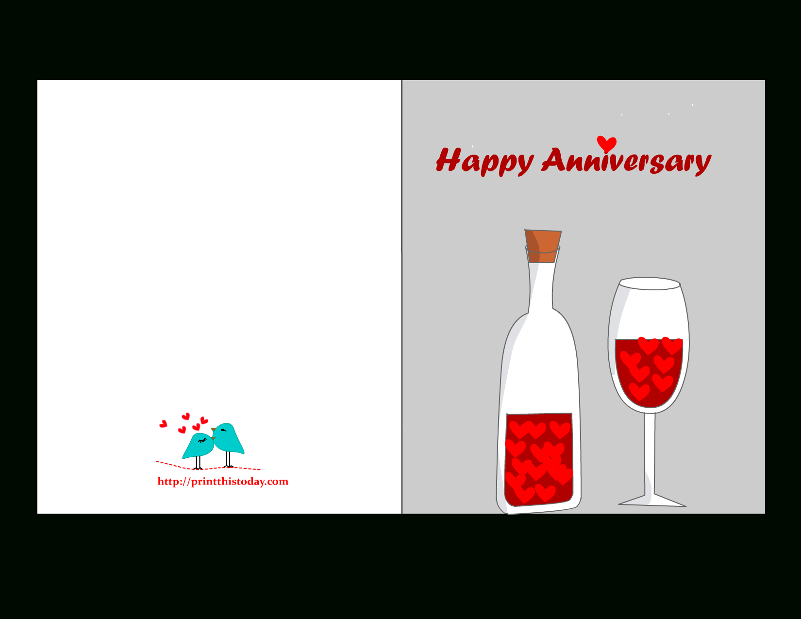 Free Printable Anniversary Cards - Free Printable Anniversary Cards
