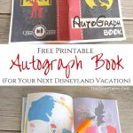 Free Printable Autograph Book For Your Next Disney Vacation | Free   Free Printable Autograph Book For Kids
