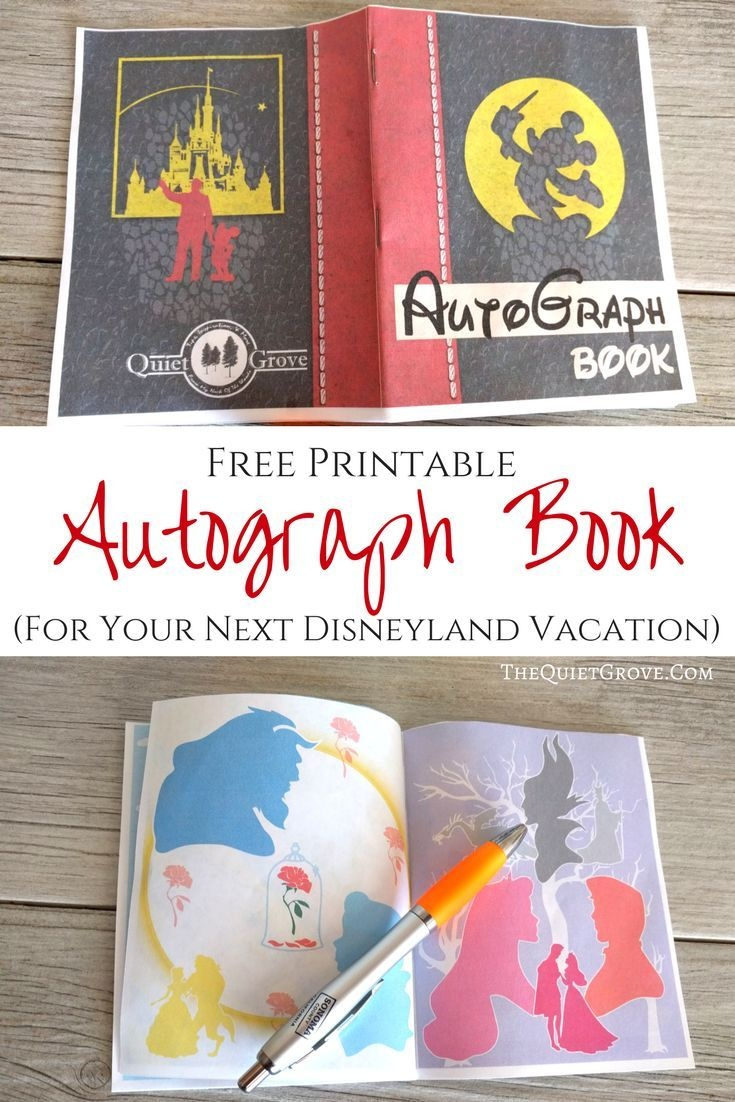 Free Printable Autograph Book For Your Next Disney Vacation | Free - Free Printable Autograph Book For Kids