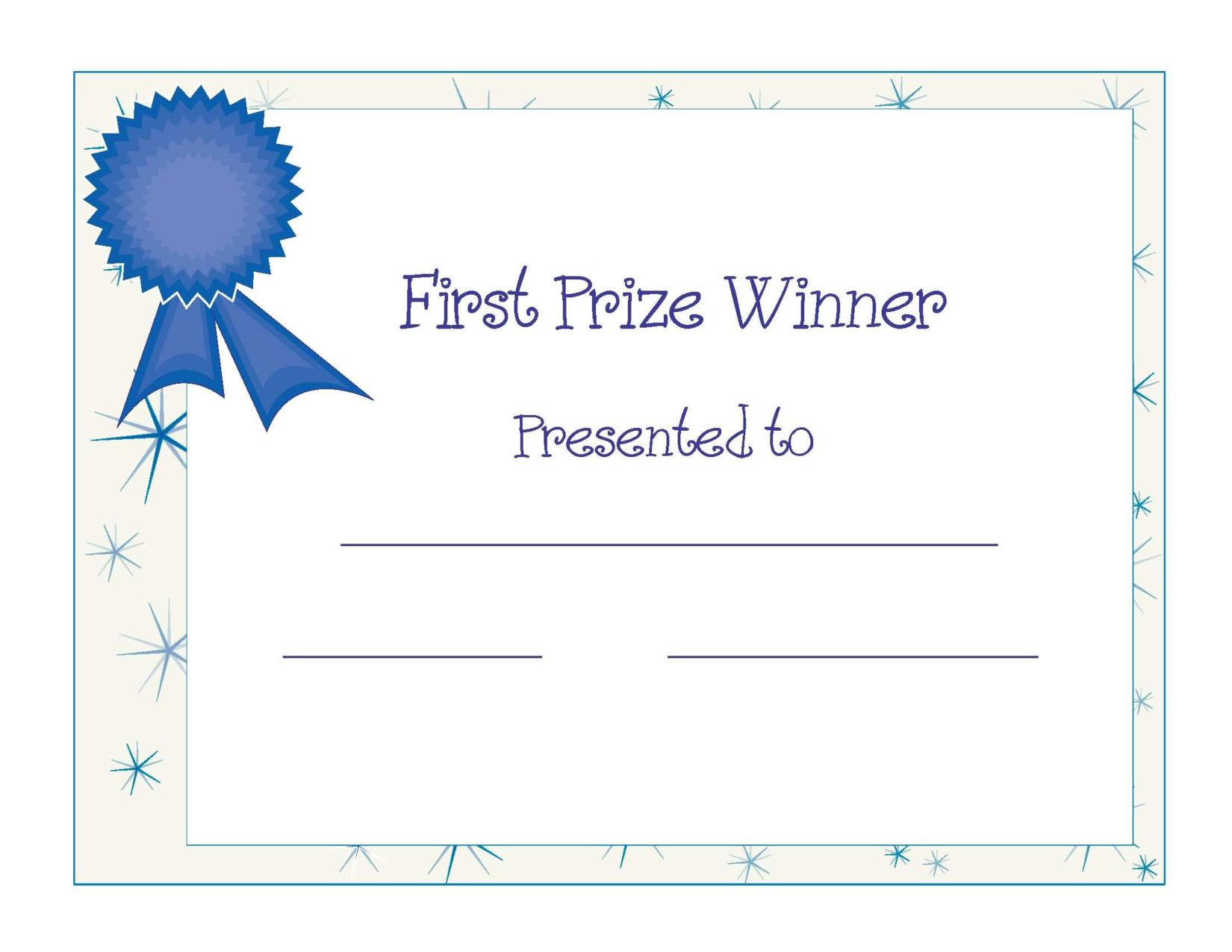 Free Printable Award Certificate Template | Free Printable First - Free Printable Student Award Certificate Template
