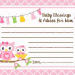 Free Printable Baby Advice Cards. Request A Custom Order And Have   Free Printable Baby Advice Cards