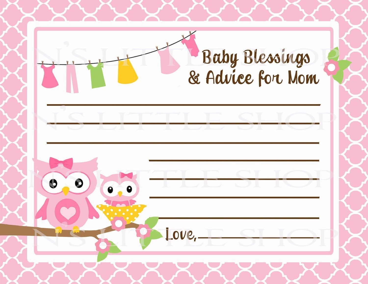 Free Printable Baby Advice Cards. Request A Custom Order And Have - Free Printable Baby Advice Cards