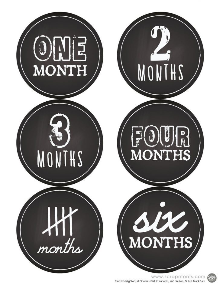 Free Printable Months Of The Year Labels