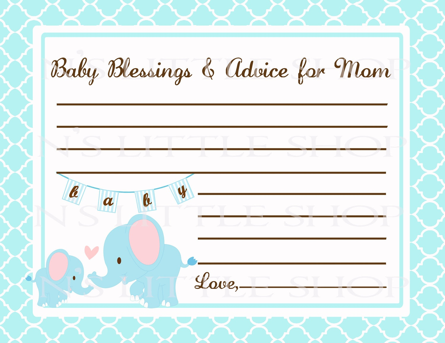 Free Printable Baby Shower Advice Cards - Printable Cards - Free Printable Baby Advice Cards