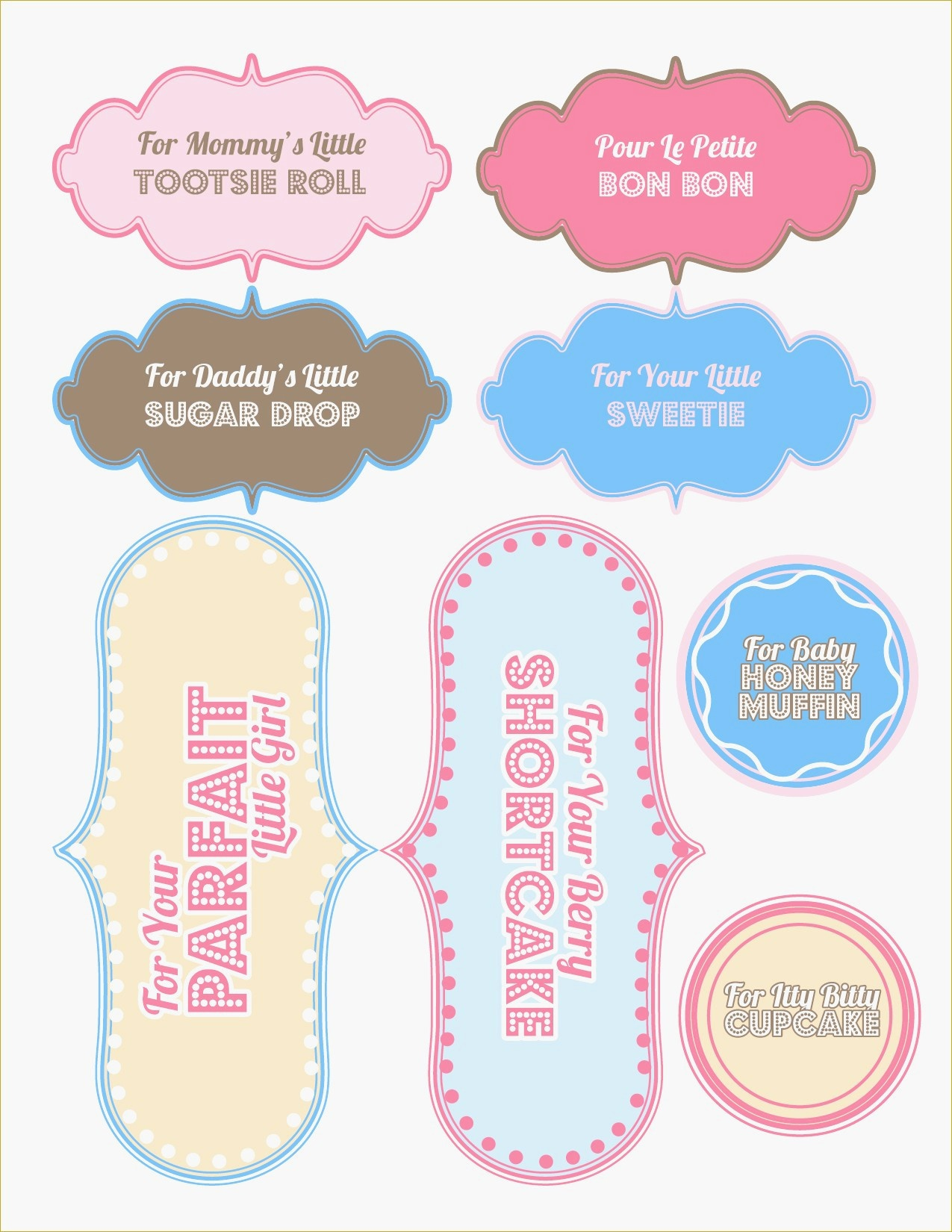 Free Printable Baby Shower Favor Tags Template Brochure Templates - Free Printable Baby Shower Favor Tags Template