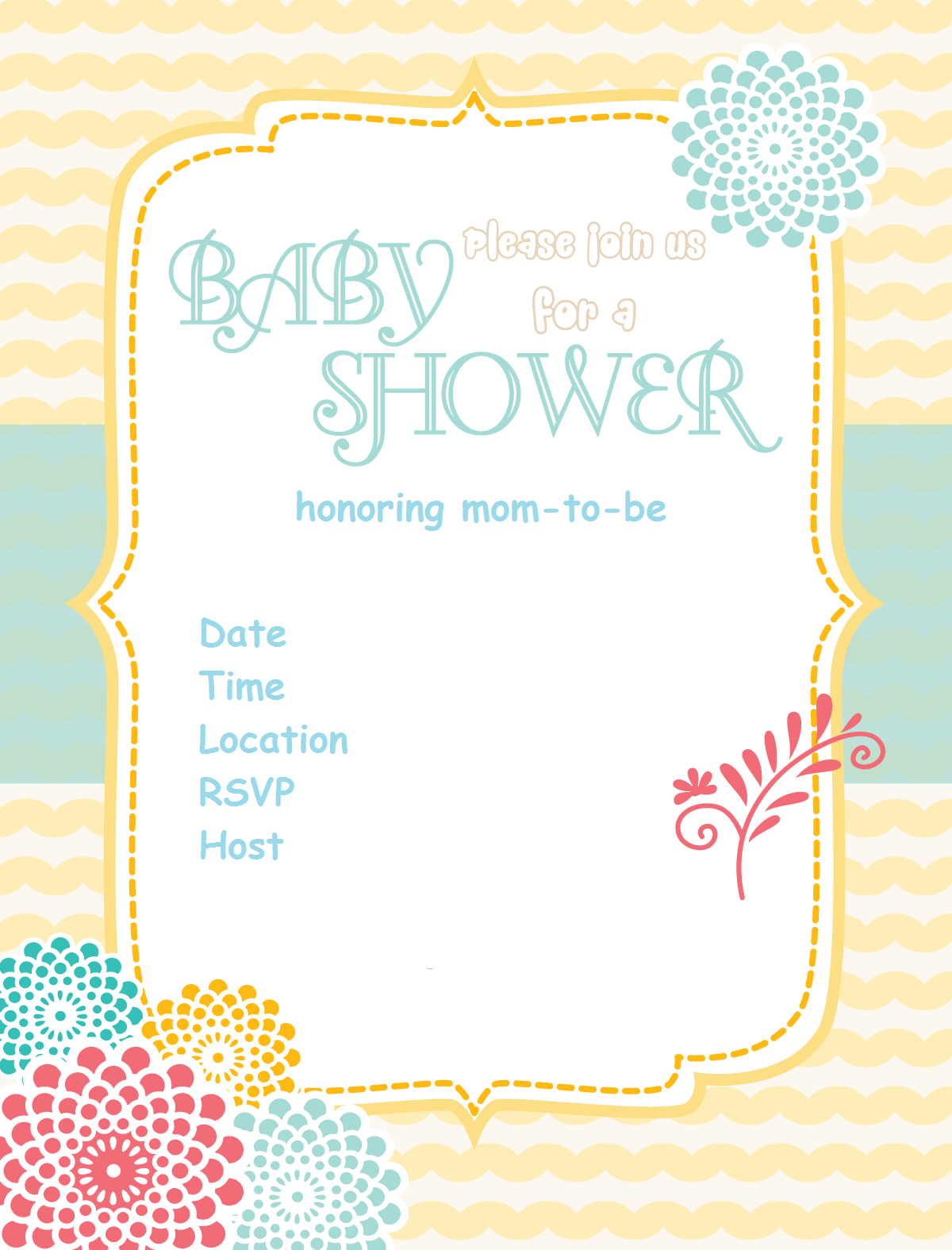 Free Printable Baby Shower Invitations - Baby Shower Ideas - Themes - Baby Invitations Printable Free