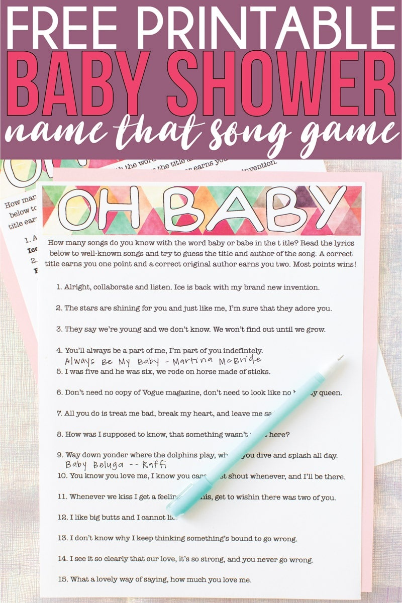 Free Printable Baby Shower Songs Guessing Game - Play Party Plan - What's In Your Phone Baby Shower Game Free Printable