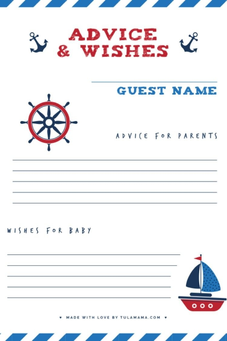 Free Printable Baby Shower Wishes For Baby Cards | Best Of Tulamama - Free Printable Baby Cards